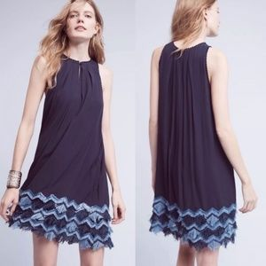 Anthro Maeve Festivity Tassel Swing Dress